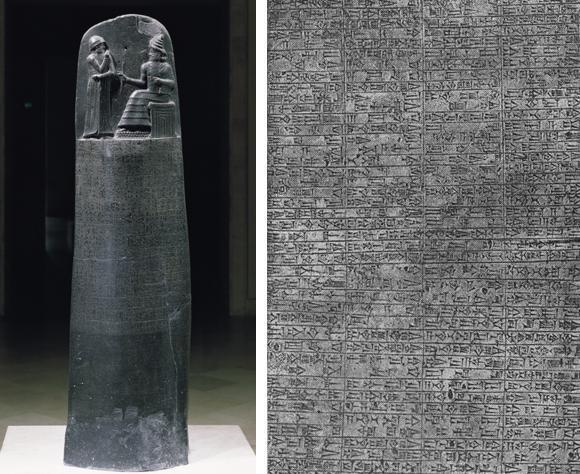 Лизинг в Месопотамия - колоната на Хамураби